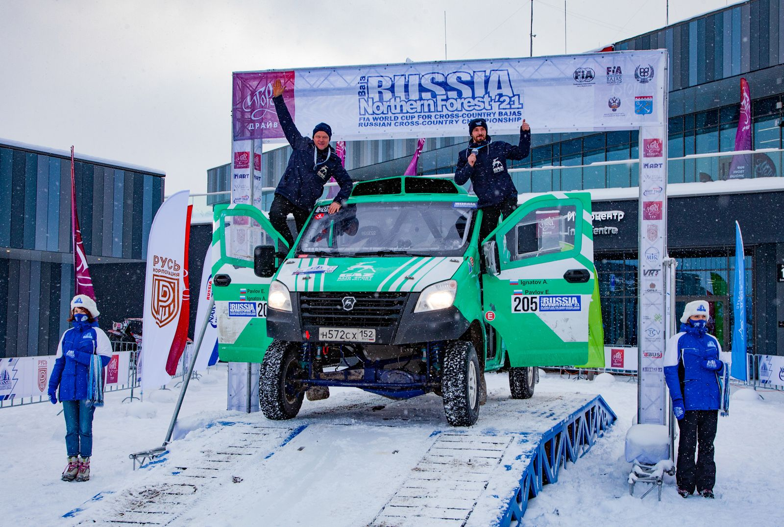 GAZelle NEXT crew is the winner at Stage 1 of the Russian Rally Raid Championship